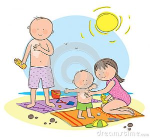 sun-protection-hand-drawn-picture-family-staying-safe-illustrated-loose-style-vector-eps-available-31150401
